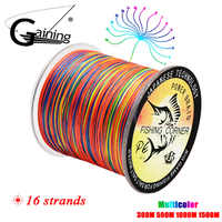 16 stränge PE Braid 300 M/500 M/1000 M/1500 M Geflochtene Angelschnur Multicolor Super power Japan Multifilament Salzwasser/Süßwasser