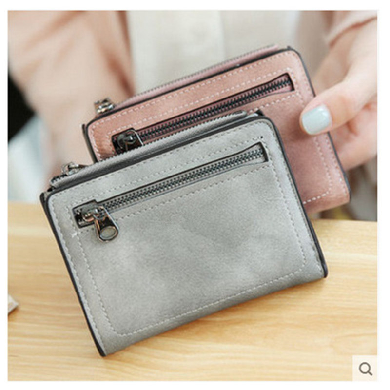 купить Women'S Wallets Small Mini Safe Money Bag ID Credit Card Holder Coin Purse Solid Carteira Mulheres Wallet Female Coin #120 по цене 380.79 рублей