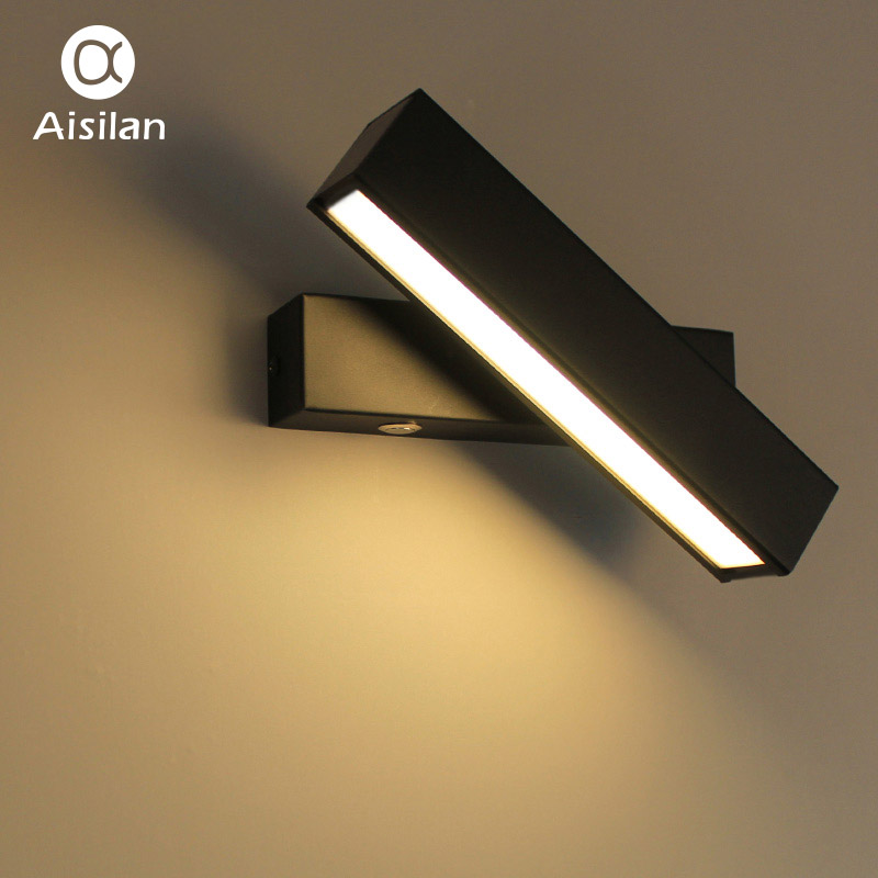 Aisilan Nordic Деревянный светодио дный светодиодный настенный светильник Современный регулируемый настенный светильник для спальни/гостиной к...