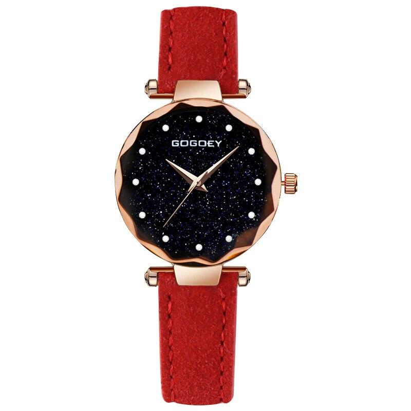 relojes mujer 18 Luxury Brand Gogoey Women Watches Personality romantic starry sky Wrist Watch Rhinestone Design Ladies Clock 17