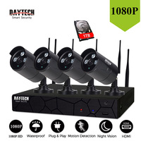 DAYTECH NVR Kit Surveillance CCTV Camera System 4 Channel HDMI 2MP HD Night Vision IR Cut