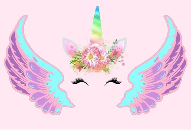 Flower Unicorn Wings Mask Head Light Pink Photography