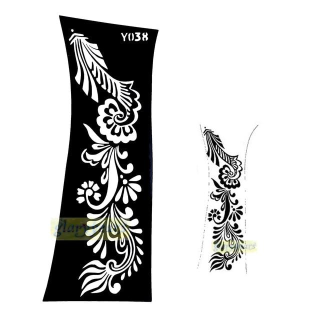 1pc Hot Professional Indian Henna Black Glitter Style Tattoo Sticker Temporary Tattoo Stencils Sexy Women Body Arm Art Kit Y038