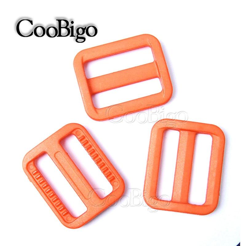 plastic Tri-glides Slider Adjustable Buckle Backpack Webbing Moll Tactical Bag Parts 25mm 1000pcs Pick Color 1