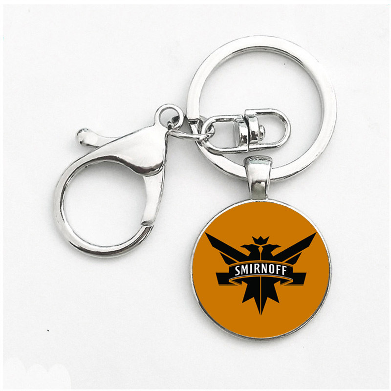 2018 New Fashion Round Car Keychain Alloy Pendant Gift Key Chain For woman
