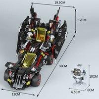 Lepin 07077 Movie Series 1496Pcs The Ultimate Batmobile Action Model Sets Batman LegoINGly 70917 Building Blocks Bricks Toys