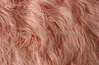 33x33(85cmx85cm) Mongolian Faux Fur Newborn Photography Props Baby Photography Basket Filler Photo Props