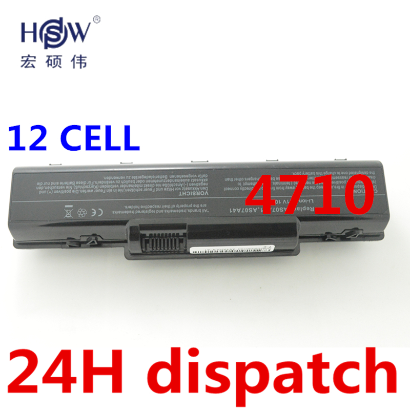 HSW 12CELL Laptop Battery for Acer Aspire 4710 4720 5335Z 5338  5536 5542 5542G 5734Z 5735 5735Z 5740G 7715Z 5737Z