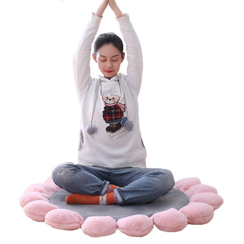 1 pièces futon coussin fenêtre coussin fleur coussin tatami graisse tapis tissu méditation thé cérémonie club yoga tapis