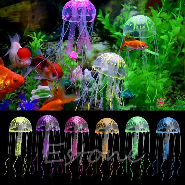 decor jellyfish aquarium decoration artificial glowing effect fish