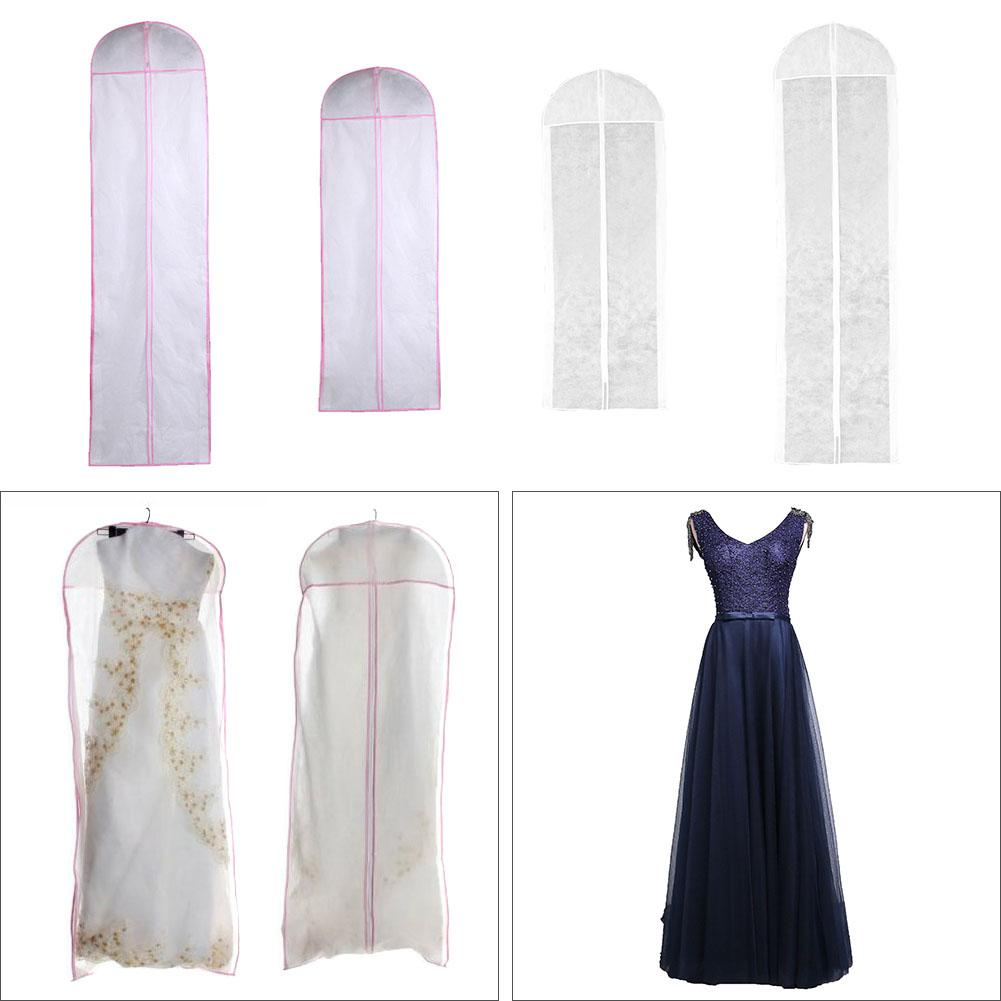 Wedding Dress Cover Garment Bag Bridal Gown Long Clothes Protector Case Dustproof Covers Wedding Dresses Garment Dust Bag in Clothing Covers from Home Garden