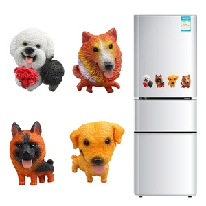 Image 3 - Pegatinas magnéticas de dibujos animados para niños, imán para nevera, Mini Bulldog Husky, para educación temprana, para nevera, 1 unidad