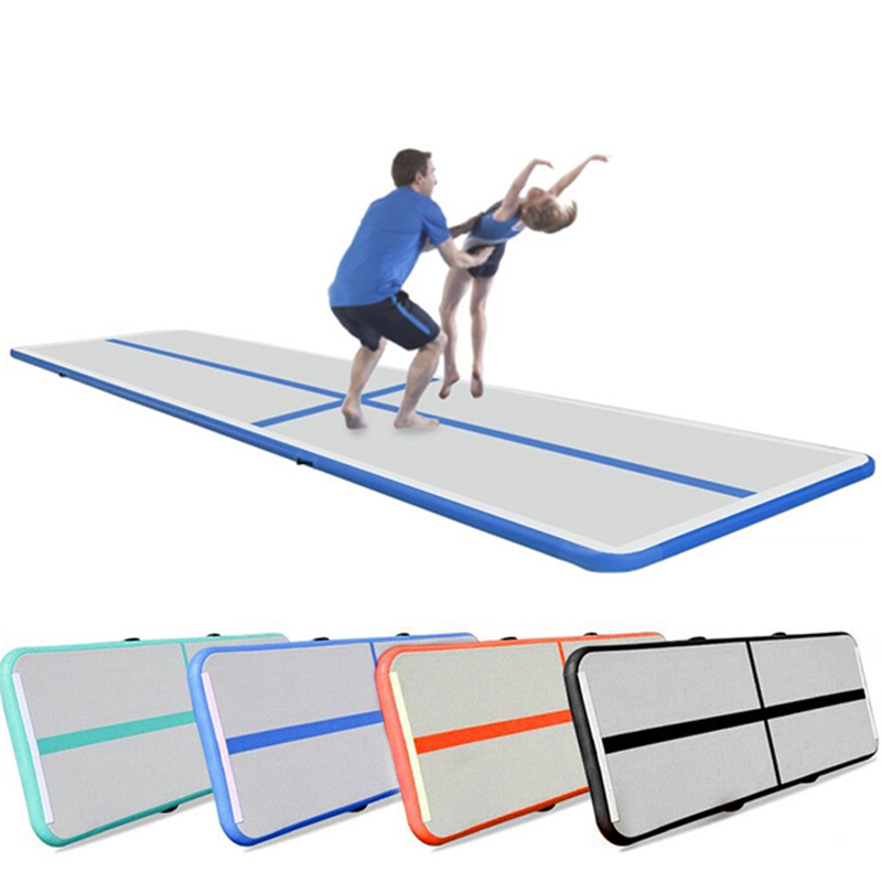 Gofun AirTrack Air Tumbling Track Training Gymnastics Mats Set Inflatable Balance Equipment Exercise 100*300*10cm 9Colors
