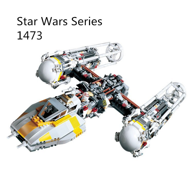 CX 05040 1473Pcs Model building kits Compatible with Lego 10134 Series Wars MOC Y-wing 3D Bricks figure toys for children lepin 05040 y attack starfighter wing building block assembled brick star series war toys compatible with 10134 educational gift