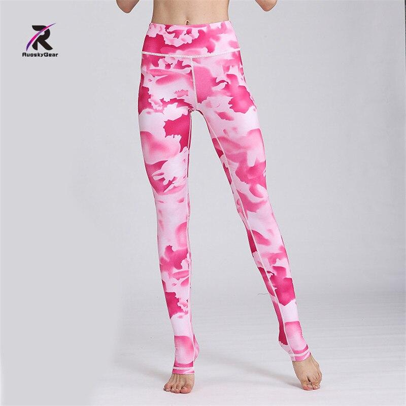 Yoga Pants Women High Waist Printed Fitness Widen Waist Dance Fitness Leggings Compression Sport Tights Yoga Sportswear