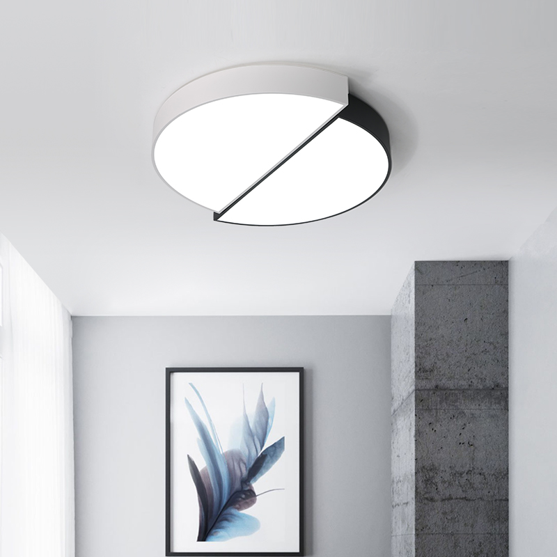 Minimalist modern Nordic creative design ceiling lamp circular living room bedroom aisle dimming LED ceiling lights ZA
