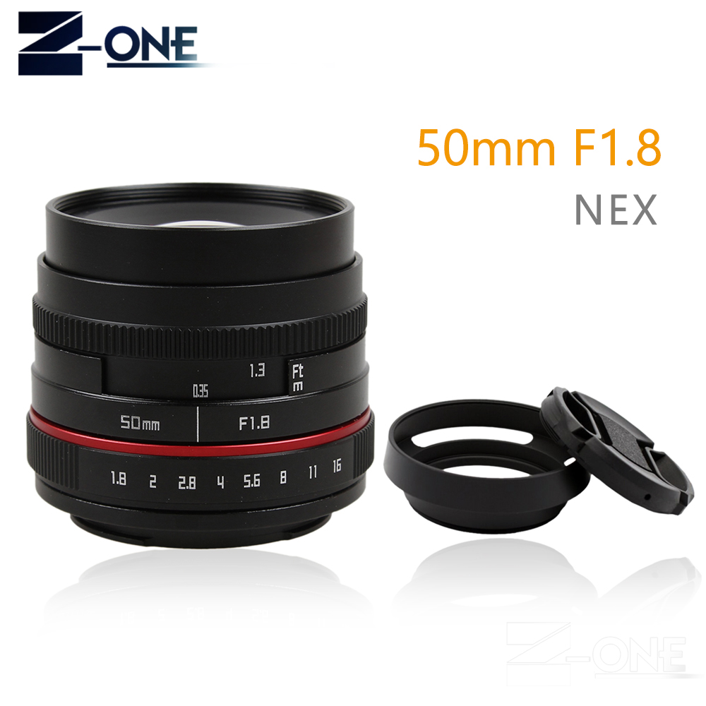 New 50mm f/1.8 APS-C F1.8 camera Lens for SONY E Mount A6500 A6300 A6100 A6000 NEX-7 NEX-6 NEX Series Camera Sony lens image
