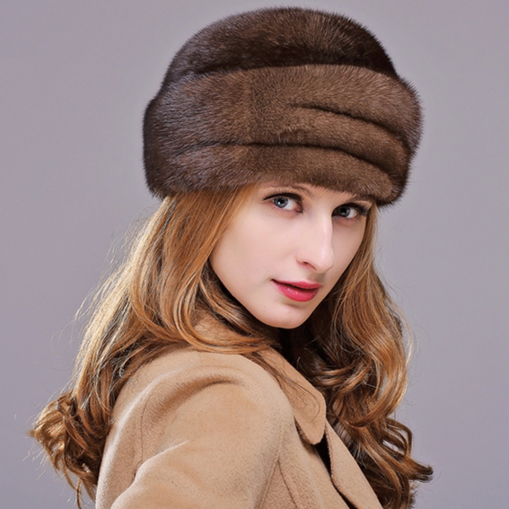 HM012 Real genuine mink  fur hat  women's winter hats whole piece mink fur hats mink skullies beanies hats knitted hat women 5pcs lot 2299