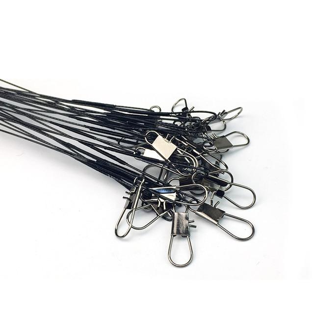50 יח'\סט אנטי-פיתיון דיג עקבות חוט קו Leadcore רצועה דגי קווי ערכת חוט מנהיג עם מסתובב רולינג duo נעילת הצמד
