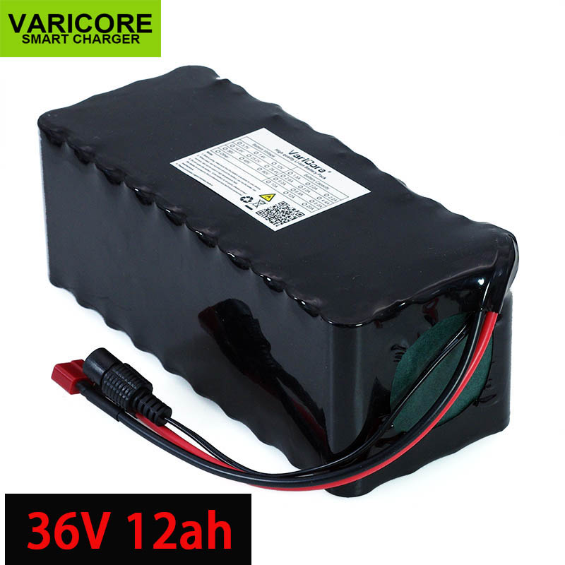 36V 12Ah 18650 Lithium Battery pack High Power Motorcycle Electric Car Bicycle Scooter with BMS backup power