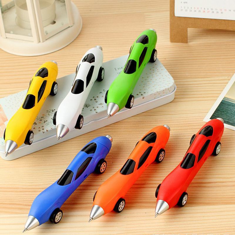 BLEL Hot Pack of 12 Pcs Cute Cool Racing Car Shape Personalized Ballpoint Pens Office School Supplies Students Children Gift creative golf club style ballpoint pens set 3 piece pack