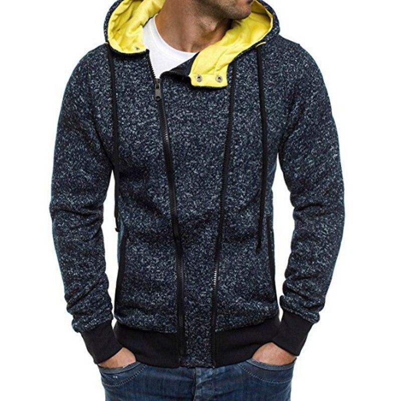 DROP SHIPPING slanted zipper casual hoodies men fleece Fashion mens warm Hoodies Sweatshirts Hoody jacket hooded sweat shirts