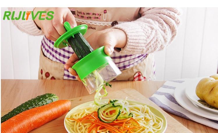 vegetable fruit spiral slicer carrot cucumber grater spiral blade cutter salad tools zucchini. Black Bedroom Furniture Sets. Home Design Ideas