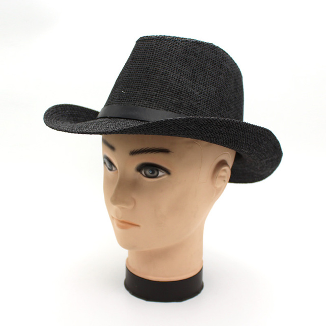 d80cd439af15f Wholesale Straw cowboy hat cap summer men women jazz beach fedoras sun hat  travelling lover s england style gentleman hats caps