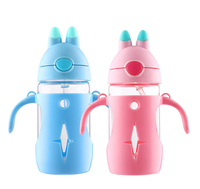 New Cute Unique Cartoon Children Glass Water Bottle Practical Portable Drinking Kettle Fashion Durable Student Drinkware