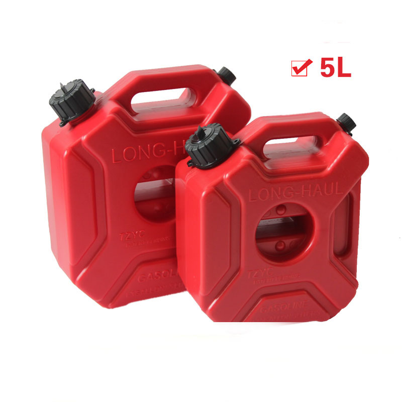 Black / Red 5L Explosion-proof Antistatic Spare Plastic Barrels Fuel Tank Car Motorcycle Fuel Spare Plastic Petrol Tanks  CanBlack / Red 5L Explosion-proof Antistatic Spare Plastic Barrels Fuel Tank Car Motorcycle Fuel Spare Plastic Petrol Tanks  Can
