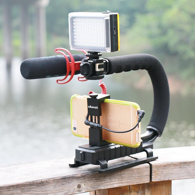 "Ulanzi U-Grip Triple Shoe Mount <font><b>Video</b></font> Stabilizer Handle Grip 1/<font><b>4</b></font>""-20 <font><b>for</b></font> Nikon Canon Camera filmmaking,<font><b>for</b></font> <font><b>IPhone</b></font> <font><b>7</b></font> 6 plus"