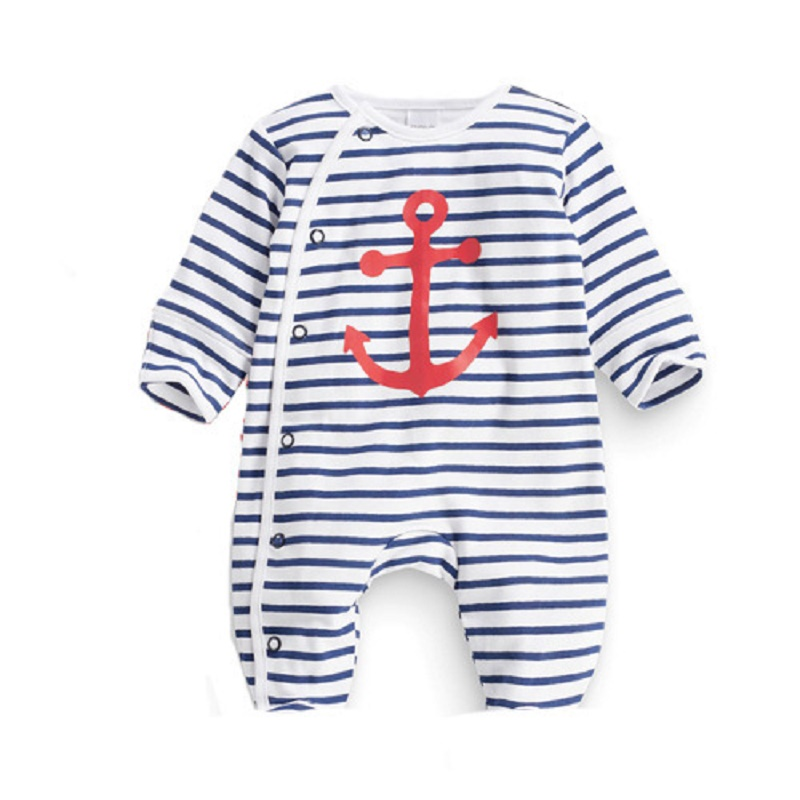 Baby stripe car Rompers Long sleeve Infant jumpsuit cotton Newborn Baby boys girls clothes printing Autumn children's clothing 2016 autumn newborn baby rompers fashion cotton infant jumpsuit long sleeve girl boys rompers costumes baby clothes