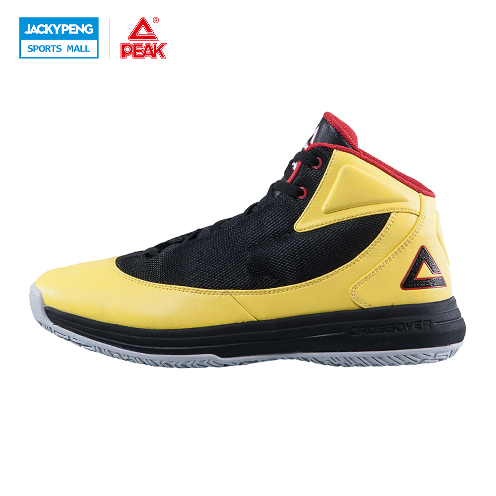 PEAK SPORT Men Basketball Shoes Authent Breathable Comfortable Sneakers Outdoor Athletic Training Rubber Outsole Ankle Boots peak sport speed eagle ii men basketball shoes breathable outdoor rubber outsole sneakers cushion 3 revolve tech athletic boots