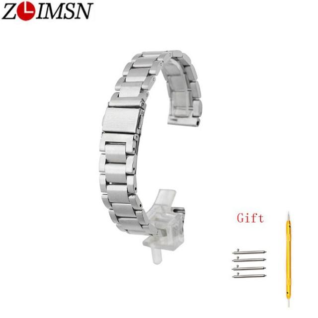 ZLIMSN Quick Release Pins Black Silver Strap 18 20mm 22mm For Men's Women Waterp