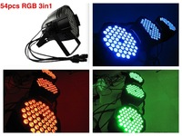 8pcs/lot+flightcase, Par LED 54x3W Triple RGB 3in1 par64 stage lights DMX hand in hand