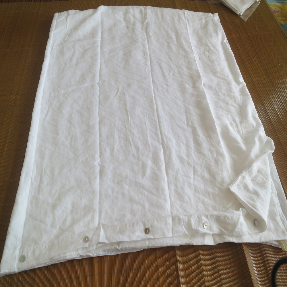 white Washed French linen duvet cover Natural 55x83 Linen bedding Luxury Bed Linen China Pure Duvet Full Christmas Gift