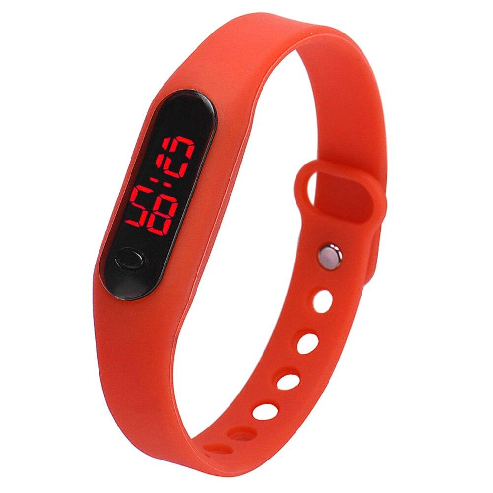 YCYS-Fashion Child Movement Silica Gel LED Watch Red