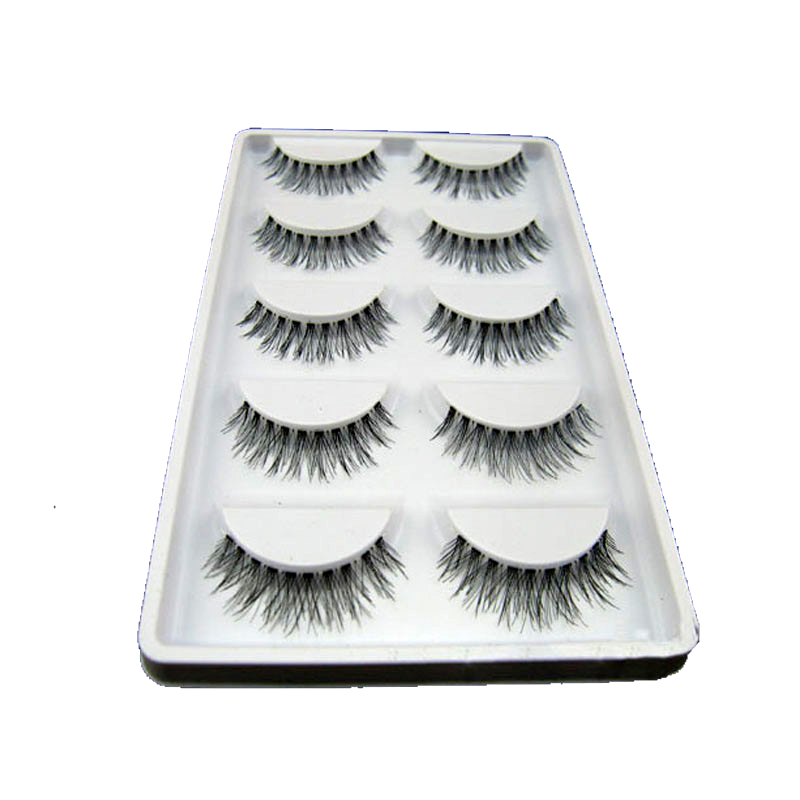 10Pairs False Eyelashes Extension Tools Messy Cross Thick Natural Long False Fake Eye Lashes Professional Beauty Makeup Tips
