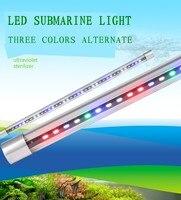 SOBO aquarium waterproof lighting LED lamp Fish tank red/white/blue three color T8 lamp dome light Explosion proof glass tube