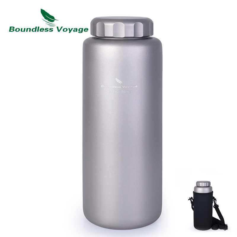 Boundless Voyage Titanium Sports Water Bottle Leak-Proof Outdoor Camping Hiking Cycling Tea Coffee Canteen Drinkware 1050ml eyki h5018 high quality leak proof bottle w filter strap gray 400ml