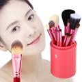 12 Unids Suavizar Maquillaje Profesional Herramientas de Cosméticos Cepillo Conjunto Kit con Cepillo Pot Protector Para Viajes FE #8