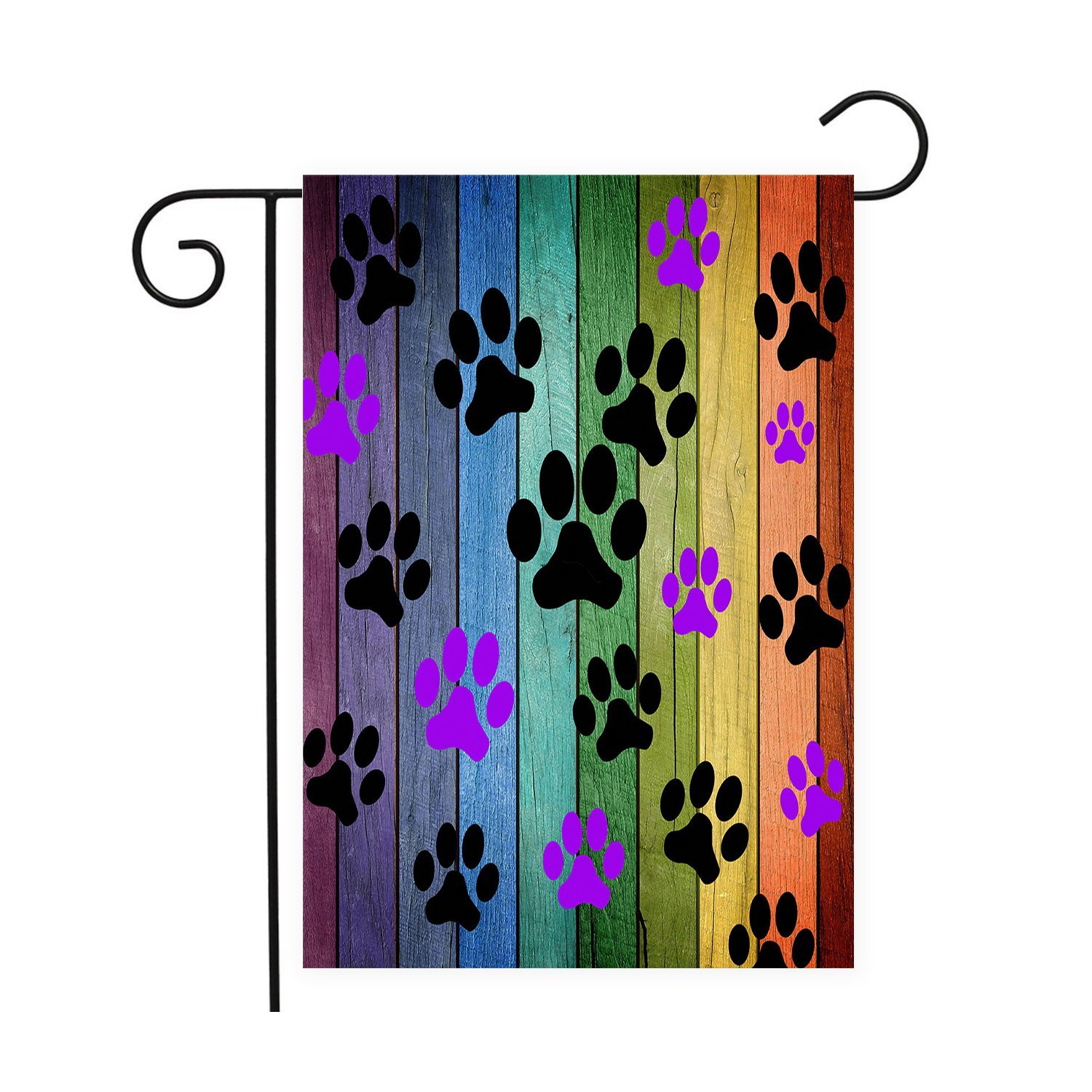 Dog Paw Prints Rustic Old Barn Wood Garden Flags House Decor Mini Yard  Banner,100% Polyester In Flags, Banners U0026 Accessories From Home U0026 Garden On  ...