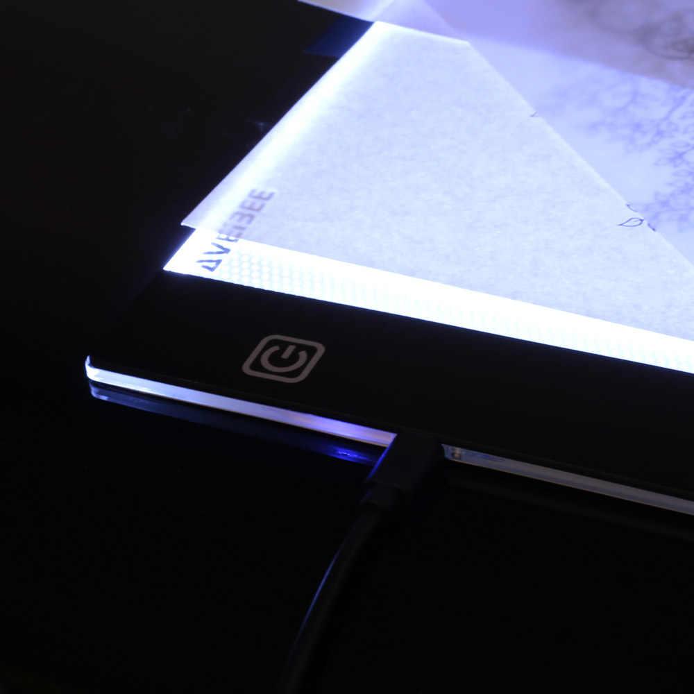 Светодиодный подсветкой чертежная доска A4 light Pad планшет для рисования планшет для копирования эскиз книга Blank Canvas для Краски ing Акварельная акриловая краска