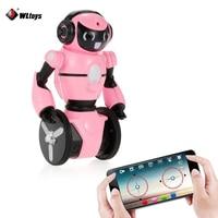 WLtoys F4 WIFI Camera Intelligent Dancing Gesture Sensor Control RC Robot White /Pink toy robot gift for kids VS JJRC R1 R2 R3