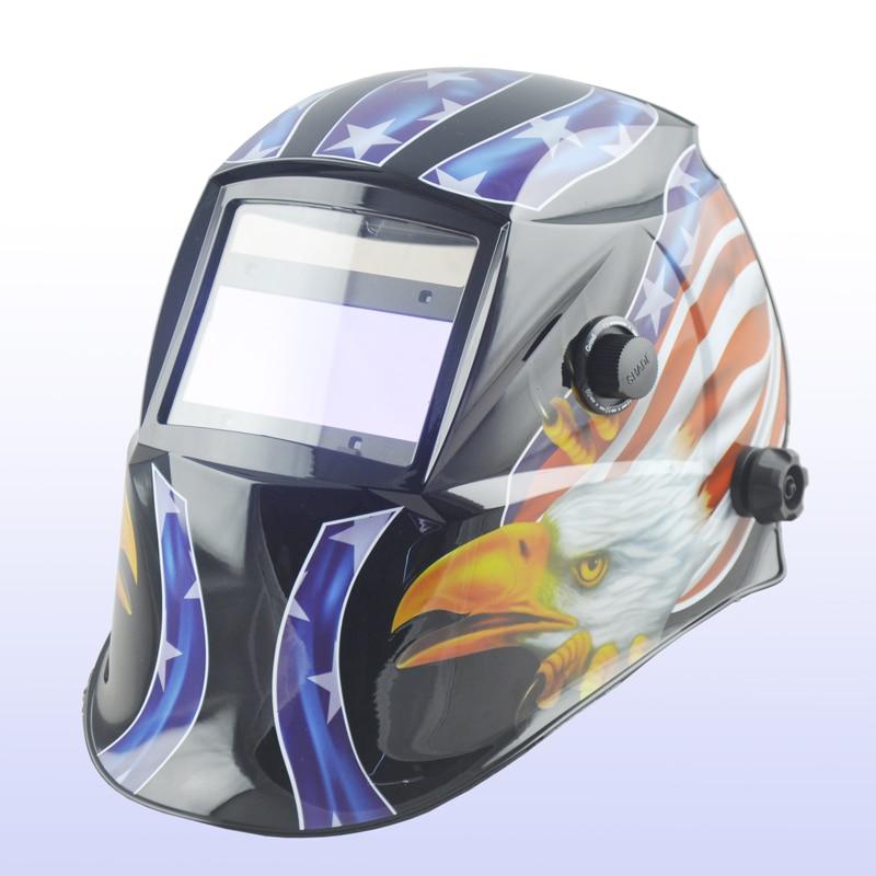 ФОТО Auto darkening welding helmet/welding mask/MIG MAG TIG/Grinding /4  Arc Sensor/ Yoga-616G EAGLE CLAW