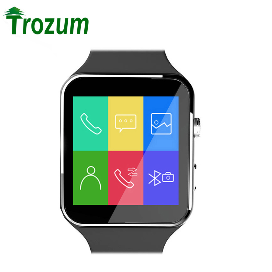 TROZUM Bluetooth Smart Watch X6 Smartwatch sport watch For iPhone Android Phone With Camera Support