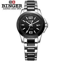 Top Luxury Brand Geneva Binger Watch Black Ceramic Watches Women Cute Dress Wrist Watch Automatic Wristwatch Relogio Clocks