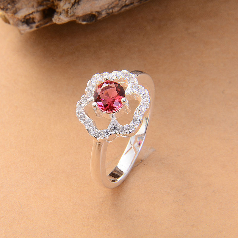 Beatyful Flower Silver Color Rings Wholesale High Quality Wedding Nickle Free Antiallergic New Fashion Jewelry Ring For Women in Engagement Rings from Jewelry Accessories