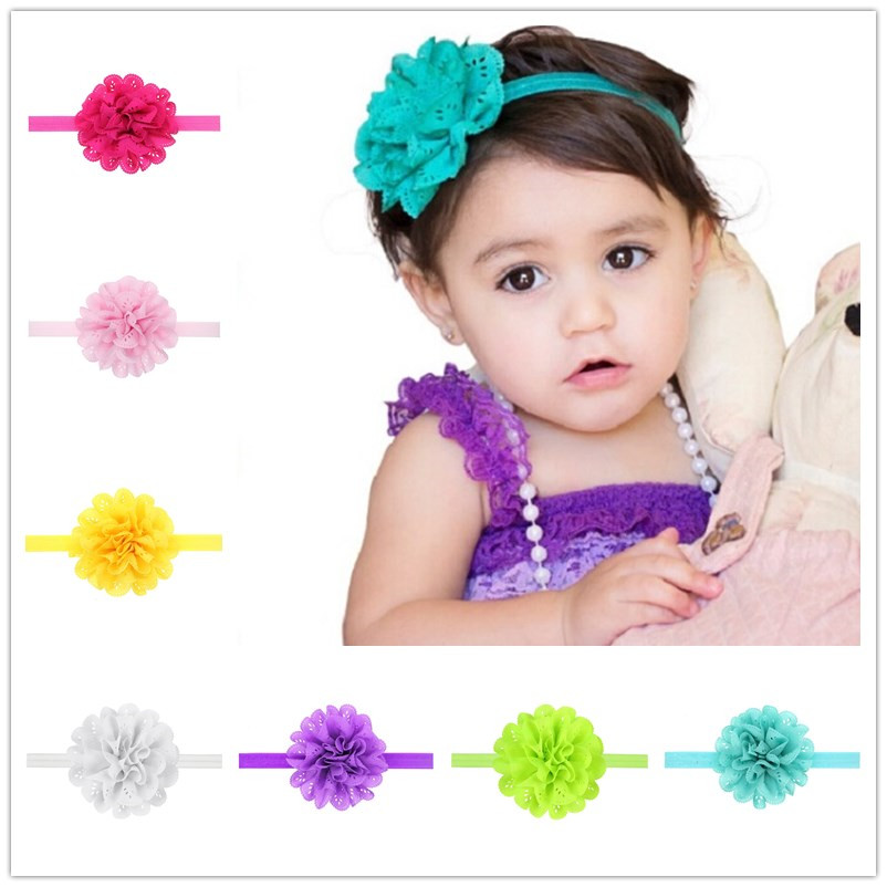 Naturalwell Summer style hair accessories Little girl flower headband Child elastic hair bands Bebes flowers for hair 1pc HB134 newborn photography props child headband baby hair accessory baby hair accessory female child hair bands infant accessories