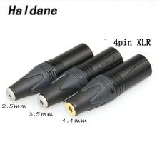 Darmowa wysyłka Haldane 3.5mm/2.5mmm/4.4mm zrównoważony żeński na 4pin zrównoważony XLR męski konwerter Adapter
